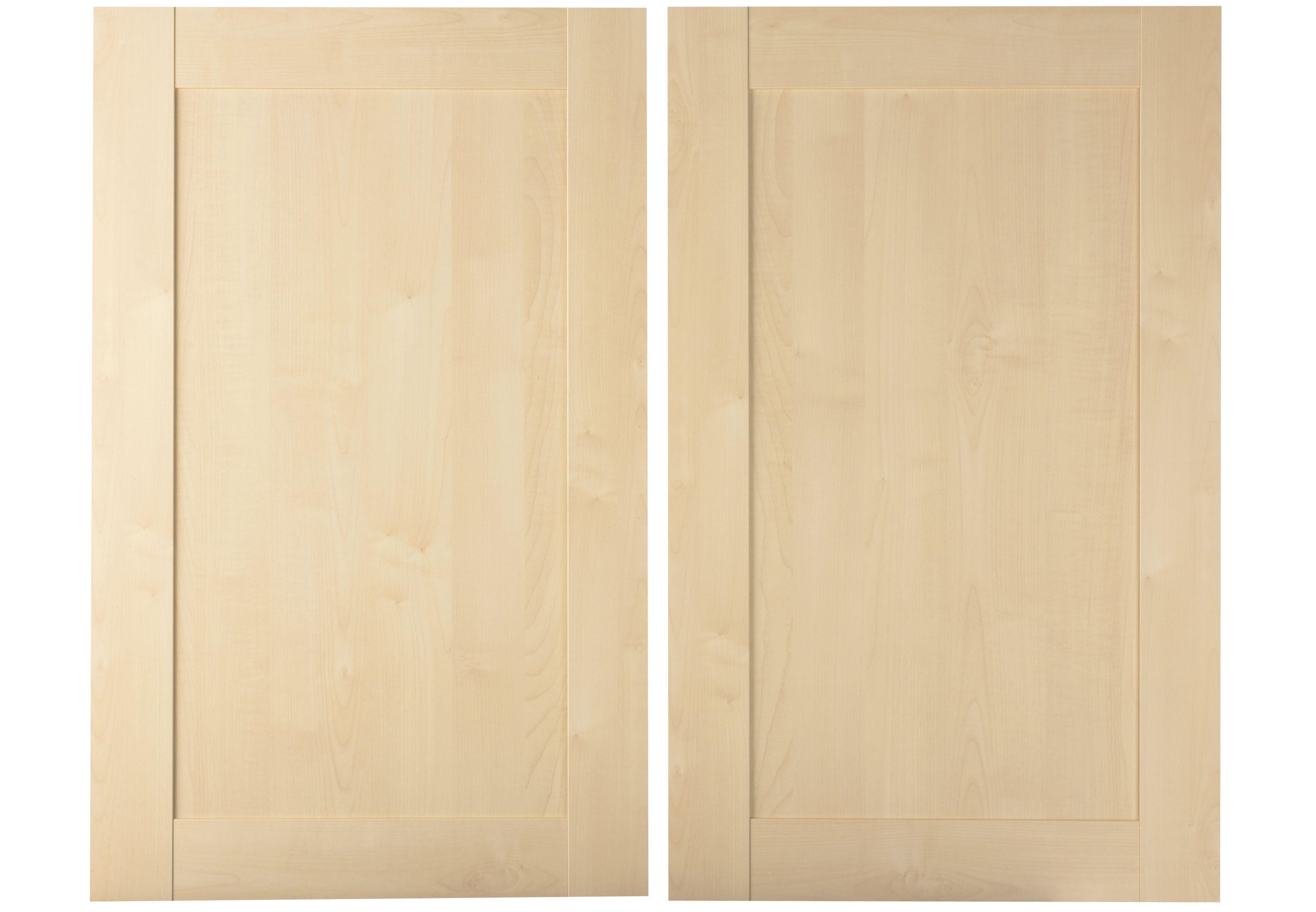 It Kitchens Westleigh Contemporary Maple Effect Shaker Larder Door (w)600mm, Set Of 2