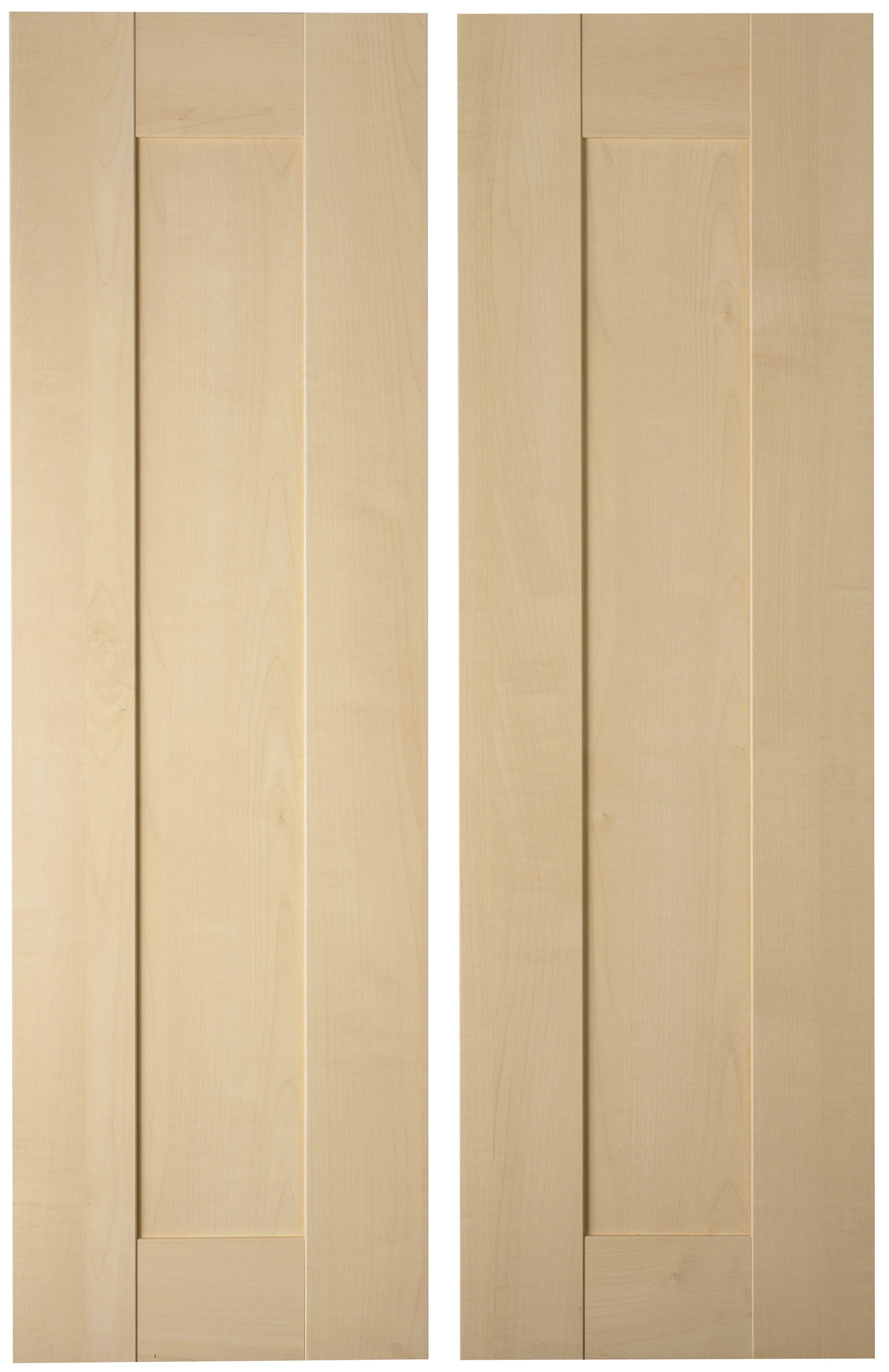 It Kitchens Westleigh Contemporary Maple Effect Shaker Larder Door (w)300mm, Set Of 2