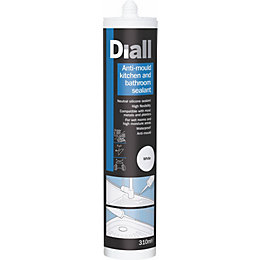Diall Kitchen & Bathroom White Sealant 310 ml