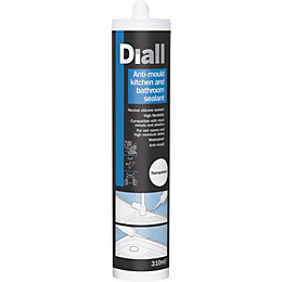 Diall Kitchen & Bathroom Transparent Sealant 310 ml