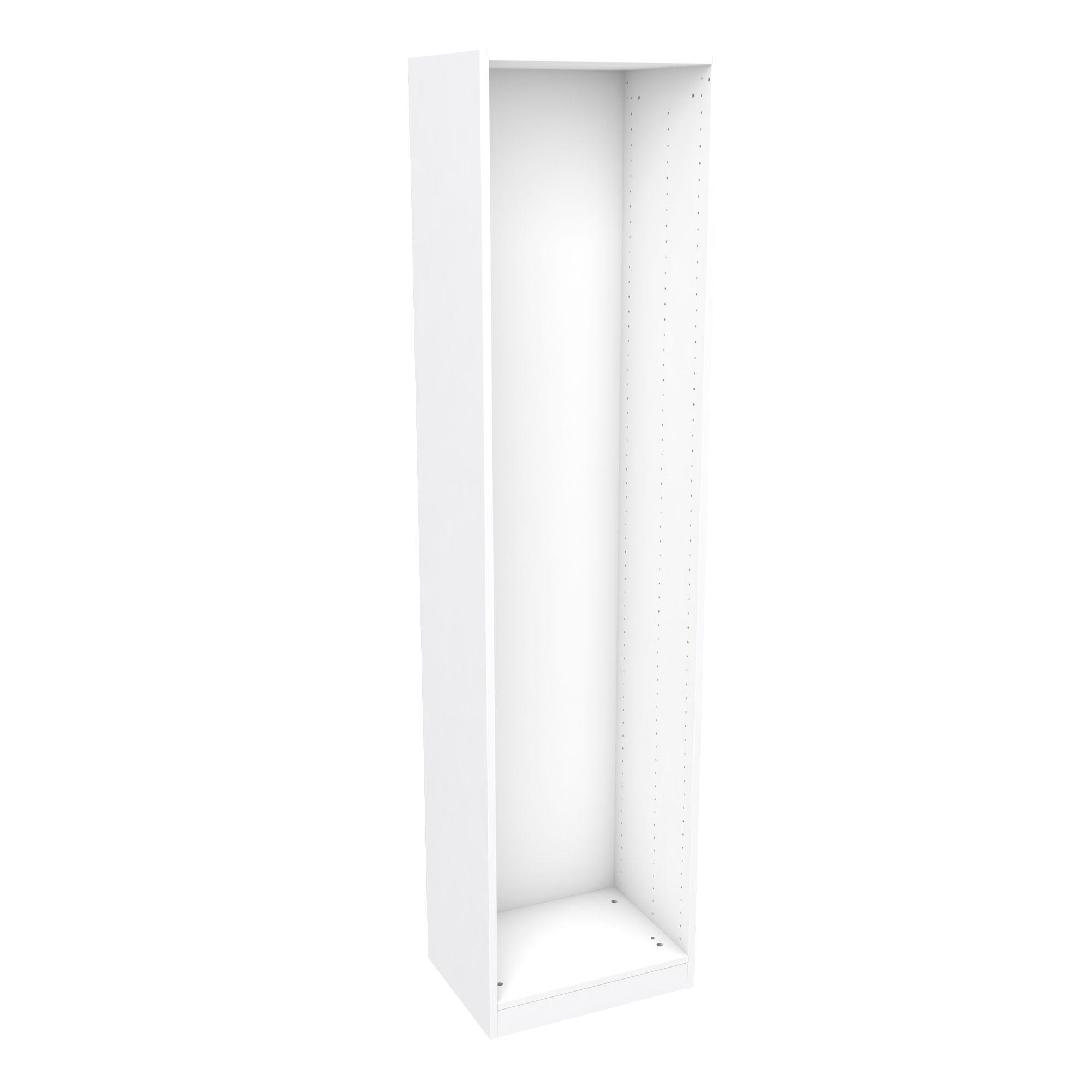 Darwin Modular White Wardrobe Cabinet (h)2004mm (w)500mm (d)374mm