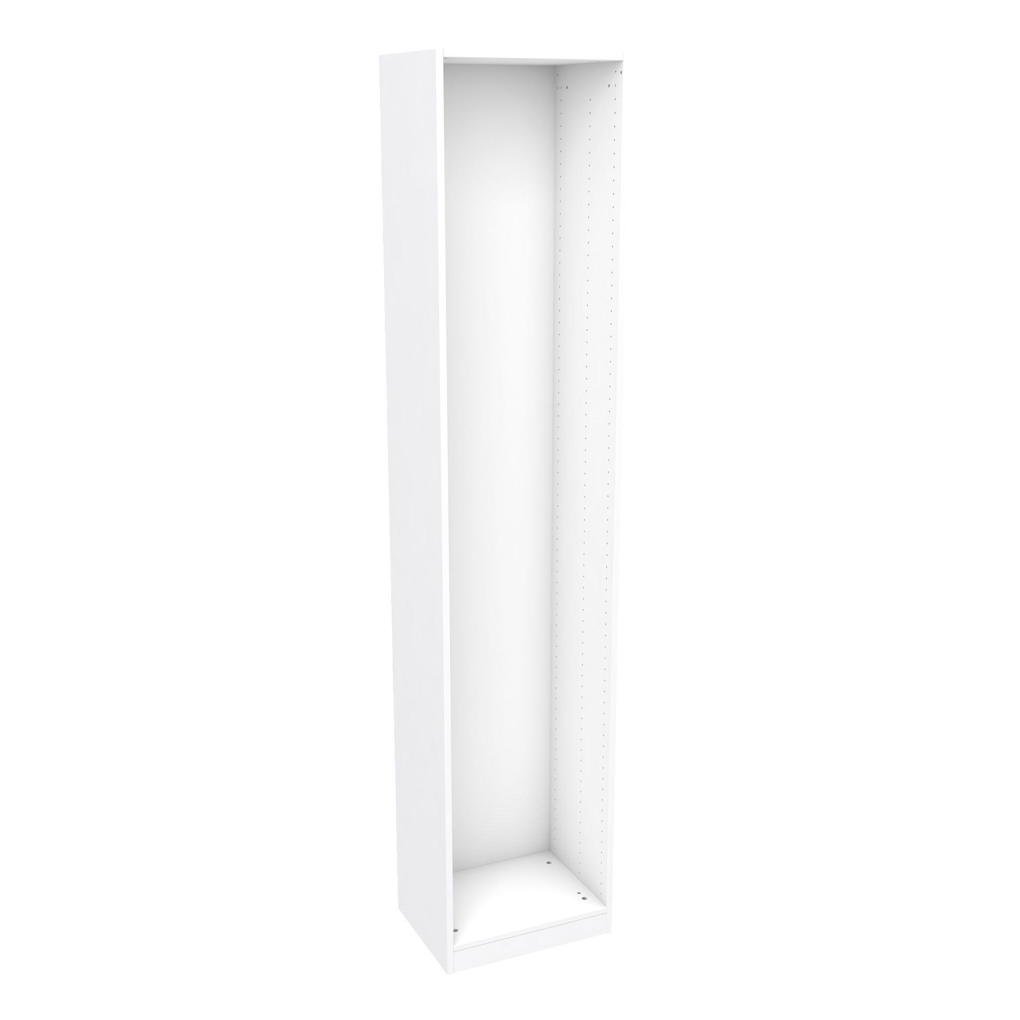 Darwin Modular White Tall Wardrobe Cabinet (h)2356mm (w)500mm (d)374mm