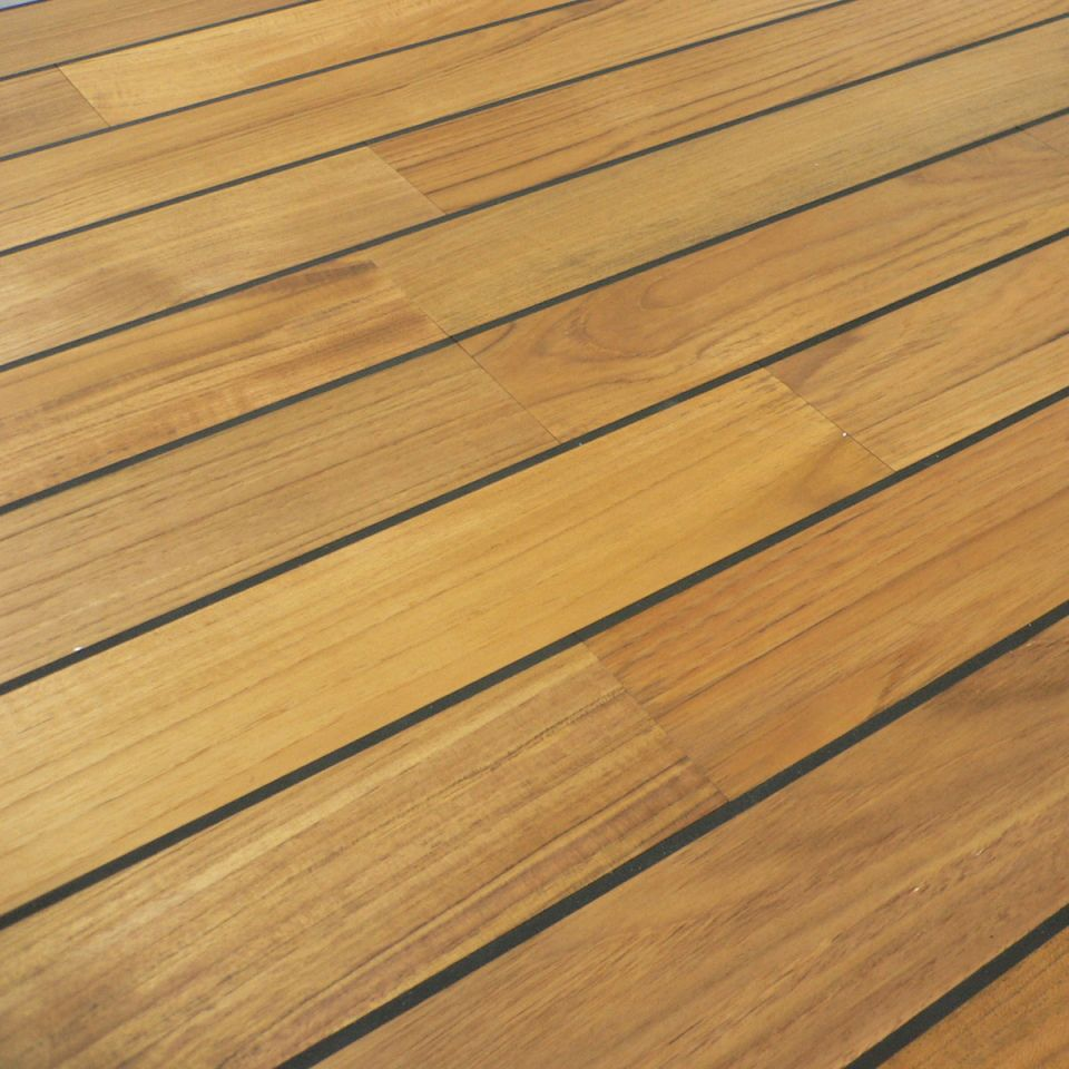 Colours bali boat effect teak real wood top layer flooring for B and q timber decking