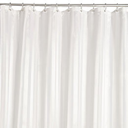 White Striped Shower Curtain (L)2 M