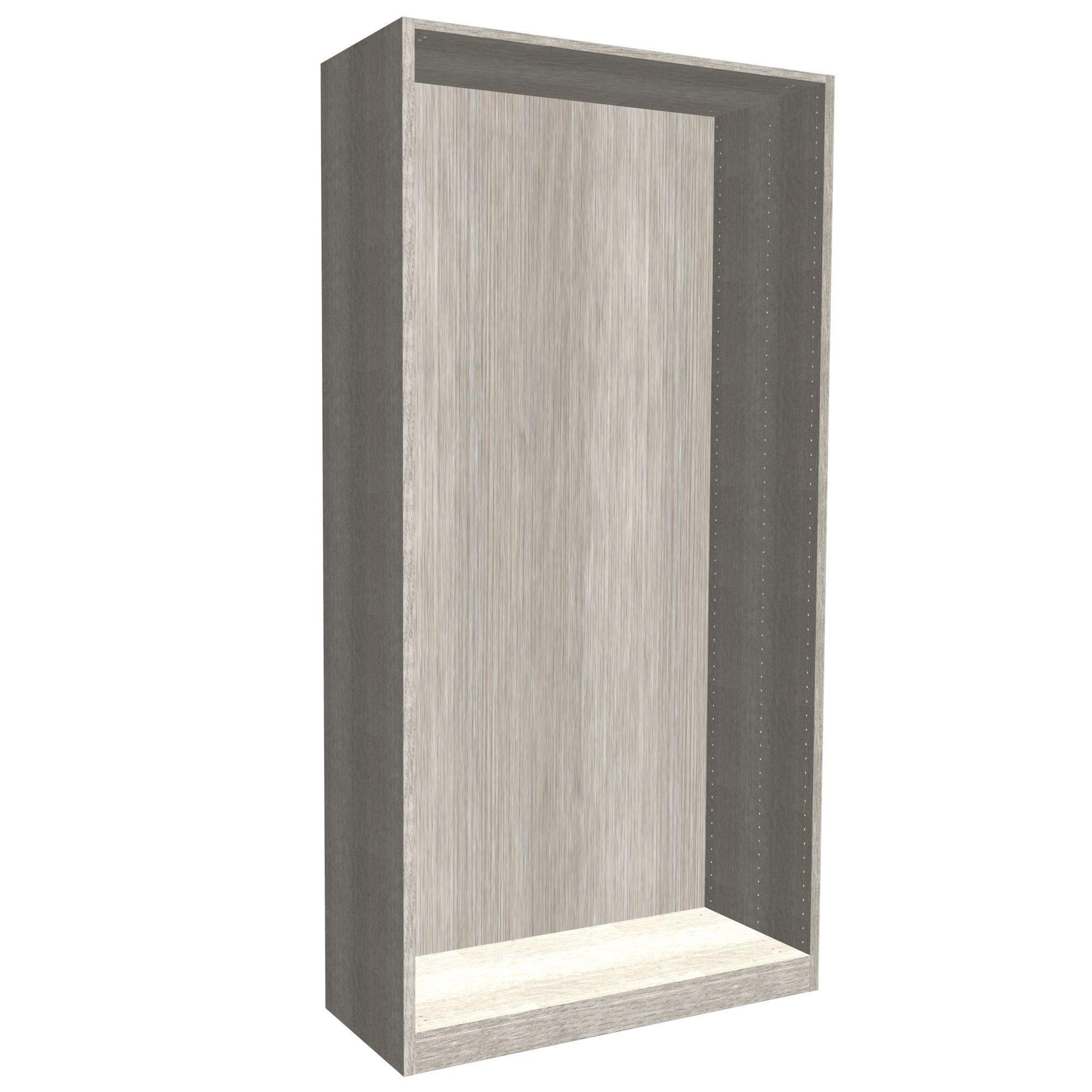 Darwin Modular Grey & Oak Effect Tall Wardrobe Cabinet (h)2356mm (w)1000mm (d)374mm