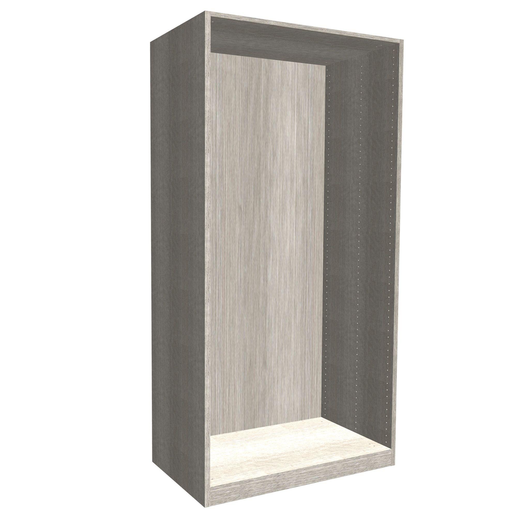 Darwin Modular Grey & Oak Effect Tall Wardrobe Cabinet (h)2356mm (w)1000mm (d)566mm