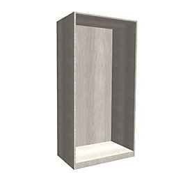 Darwin Modular Grey Oak Effect Wardrobe Cabinet (H)2004mm