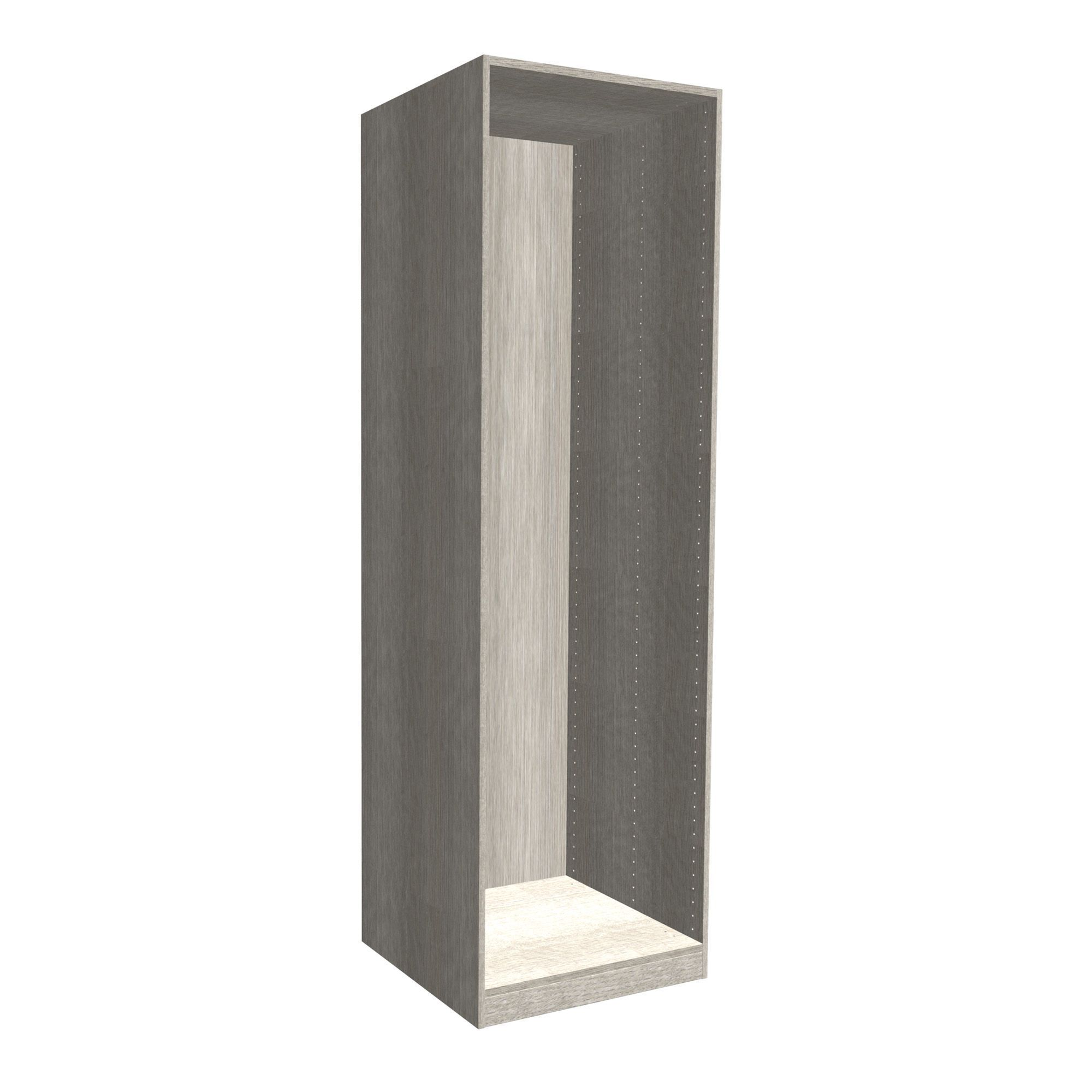 Darwin Modular Grey & Oak Effect Wardrobe Cabinet (h)2004mm (w)500mm (d)566mm