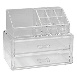 Cooke & Lewis Clear 2 Drawer Jewellery &