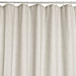 Grey Textured Shower Curtain (L)2 M