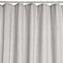 Grey Textured Shower Curtain (L)2 M