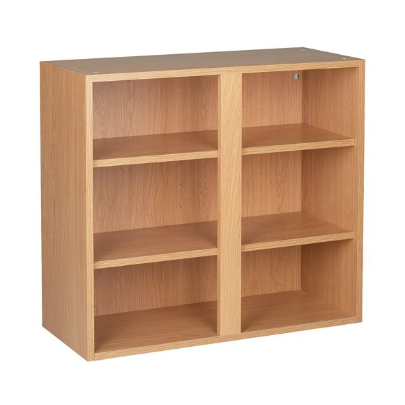 Cooke lewis oak effect standard wall unit carcass w for Kitchen cabinets 800mm
