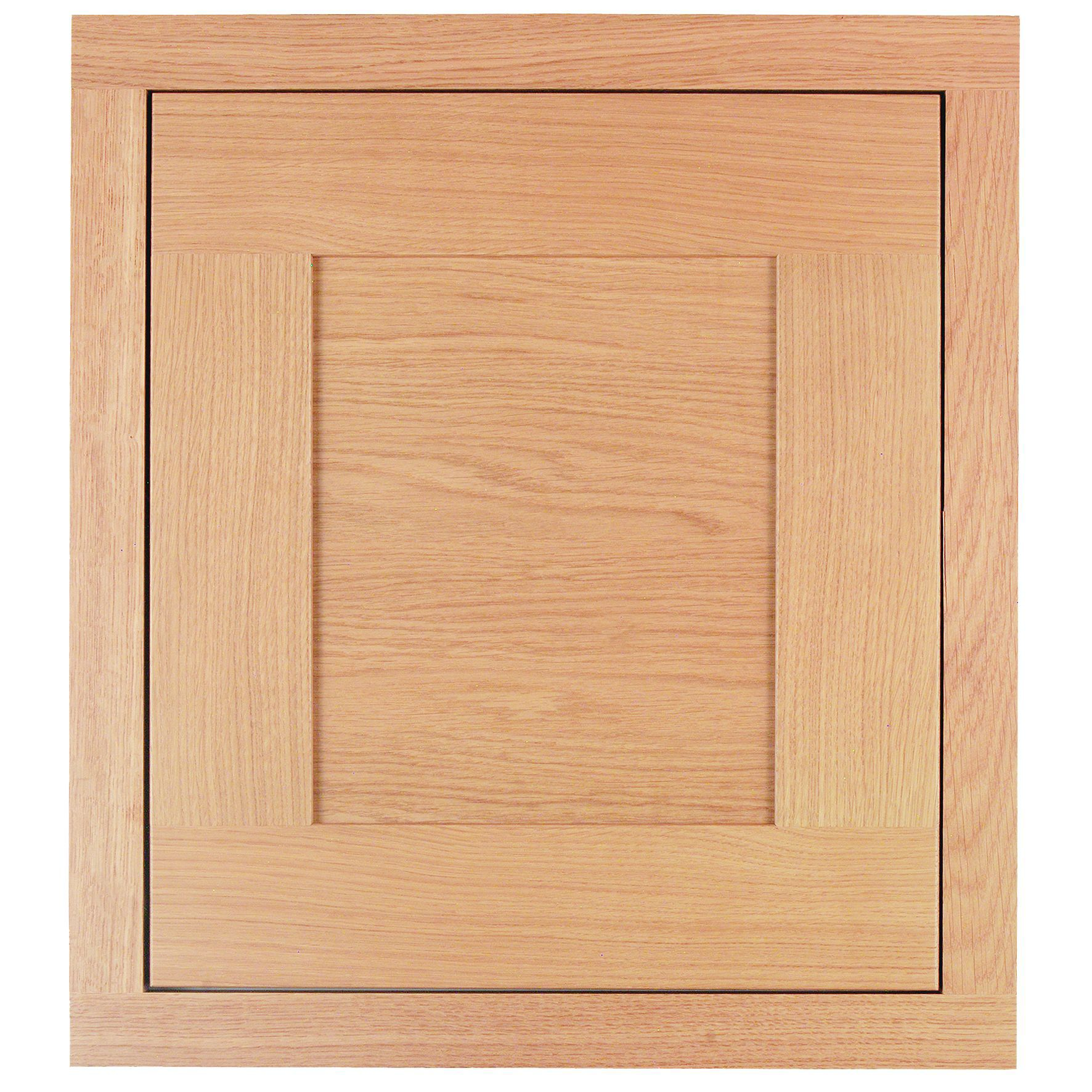 Cooke & Lewis Carisbrooke Oak Framed Deep Bridging Door (w)500mm