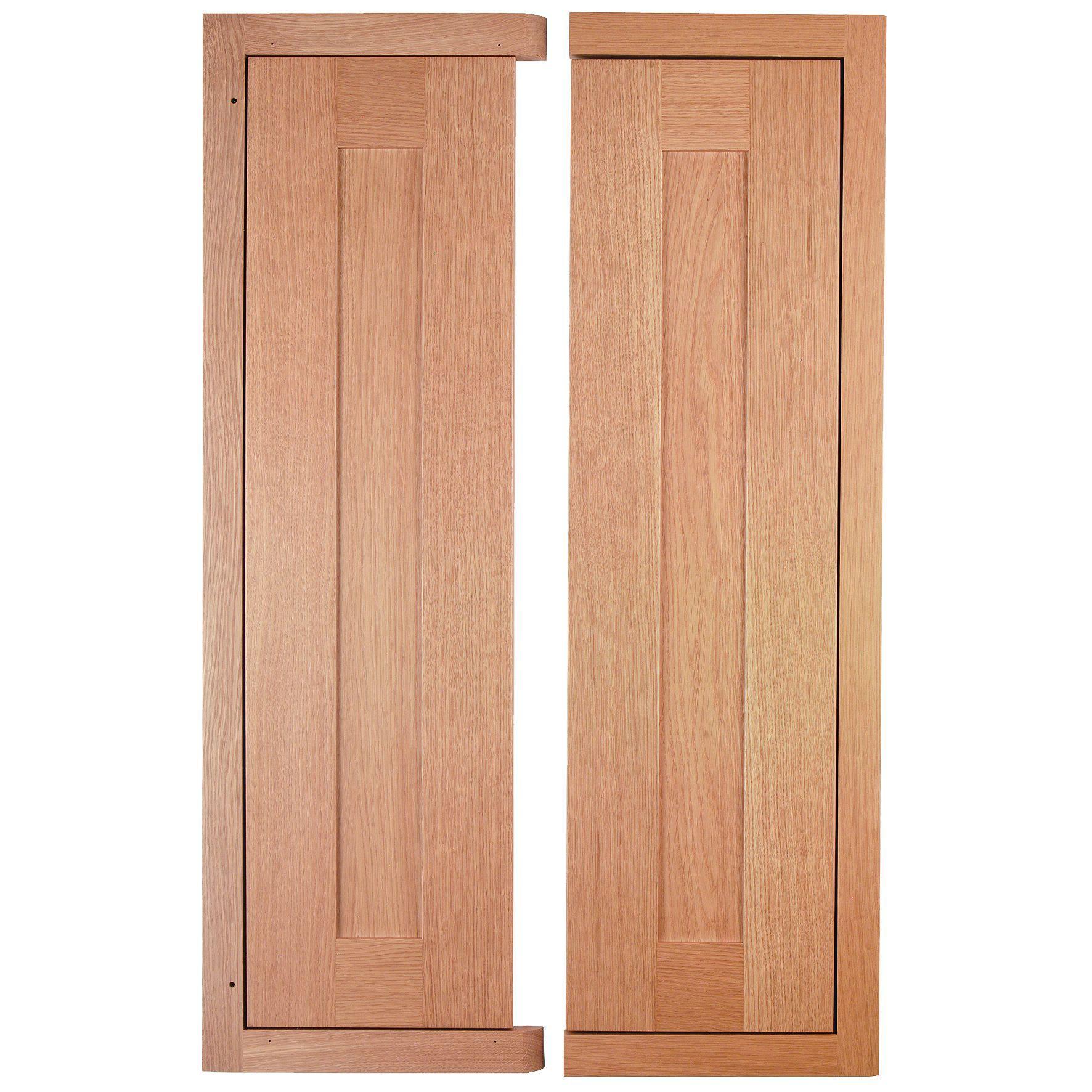 Cooke & Lewis Carisbrooke Oak Framed Corner Wall Door (w)625mm, Set Of 2