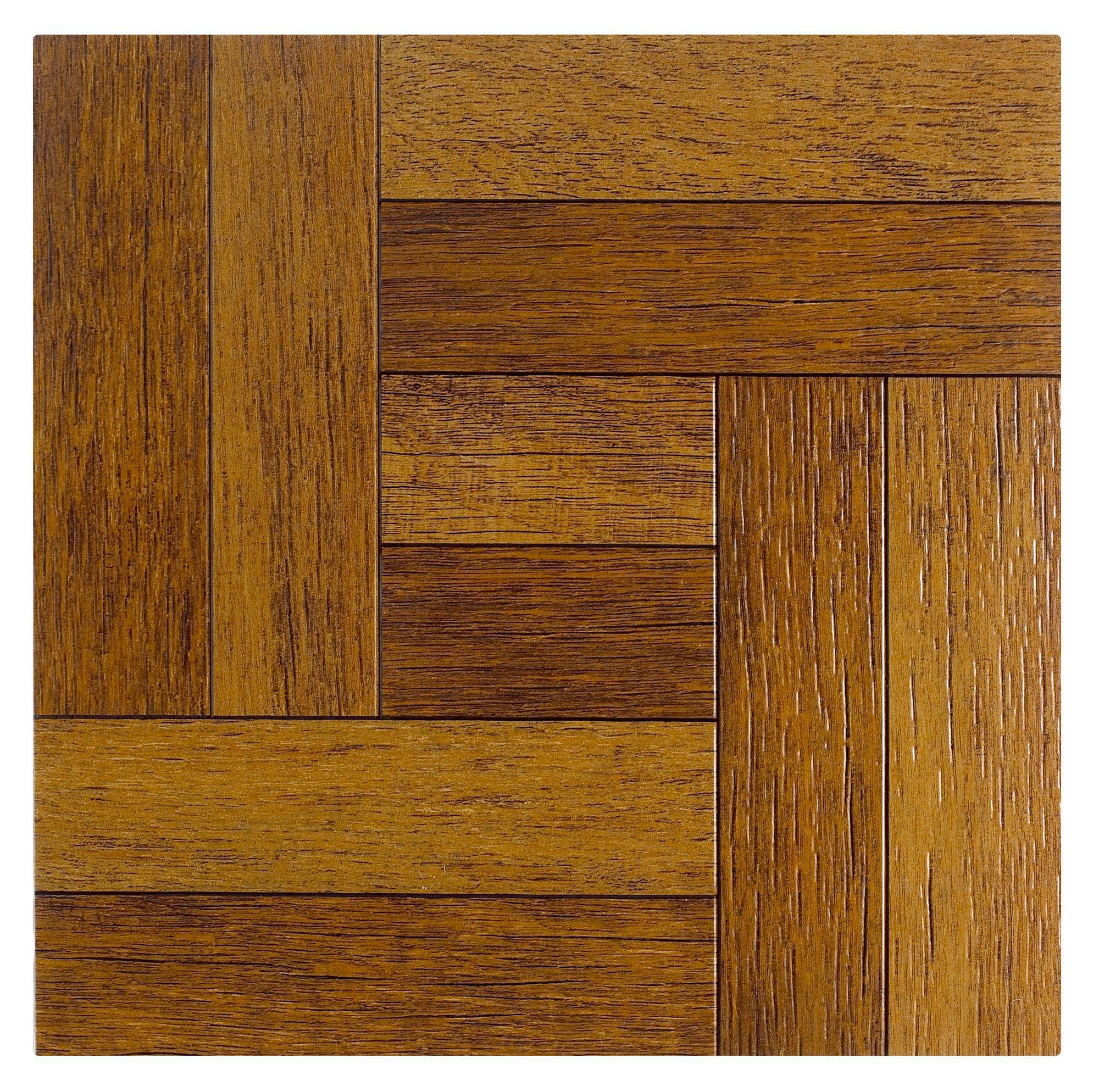 Colours Alaunda Rustic Oak Effect Self Adhesive Vinyl Tile