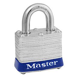 Master Lock Laminated Steel 4-Pin Tumbler Cylinder Padlock