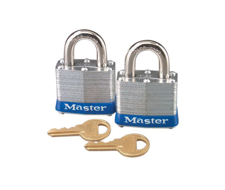 Master Lock Laminated Steel 4-pin Tumbler Open Shackle Padlock (w)40mm