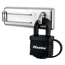 Master Lock Steel (L)115mm Hasp & Lock