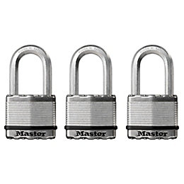 Master Lock Steel Pin Tumbler Padlock (W)50mm, Pack