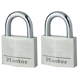 Master Lock Aluminium Pin Tumbler Padlock (W)40mm, Pack
