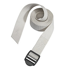 Master Lock Grey 1.2m Luggage Strap, Pack of