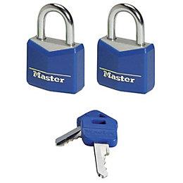 Master Lock Aluminium Pin Tumbler Padlock (W)20mm, Pack