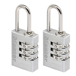 Master Lock Luggage Aluminium Resettable Combination Padlock