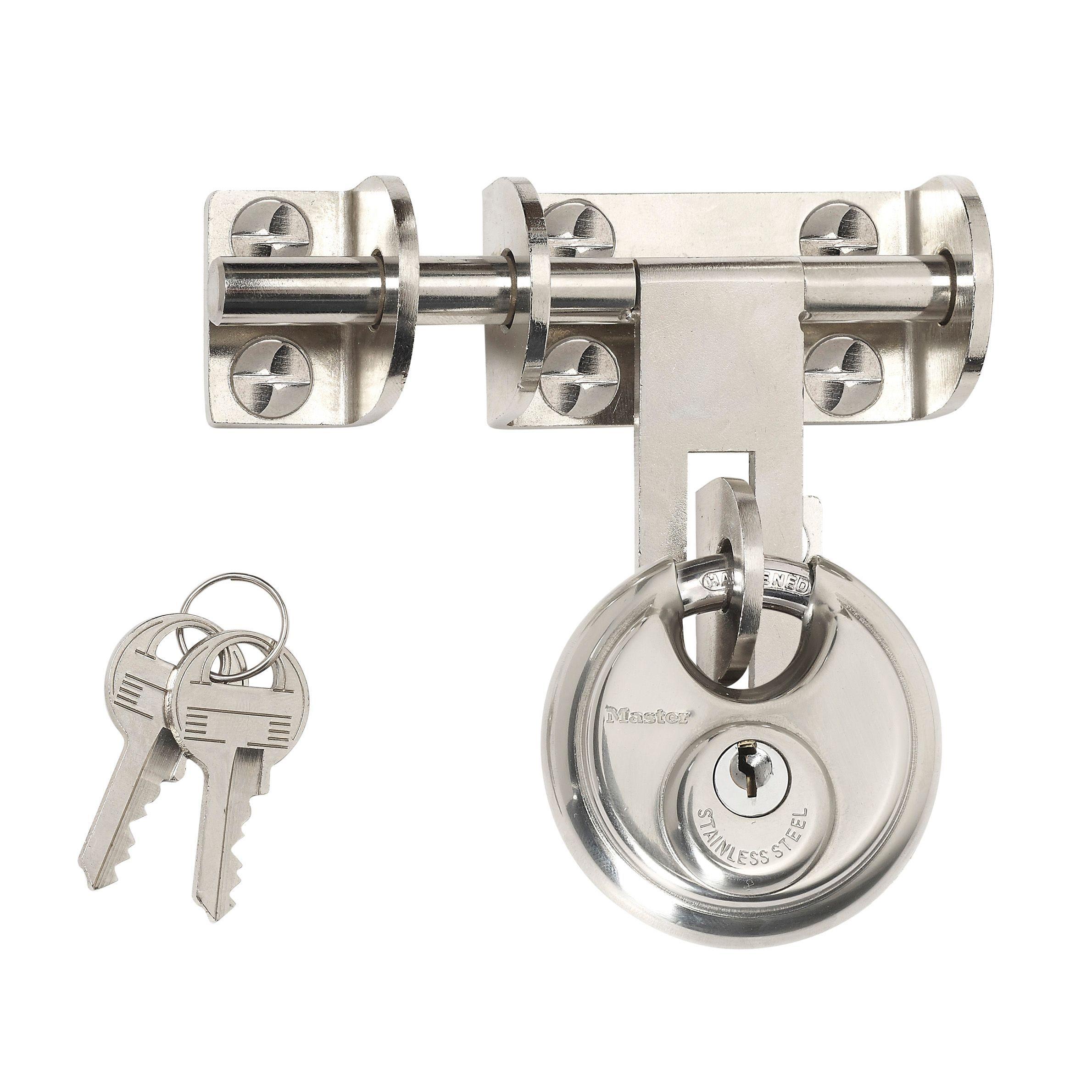 Master Lock Steel 4-pin Tumbler Cylinder Padlock