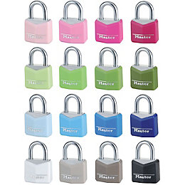 Master Lock Luggage Aluminium Keyed Steel Padlock (W)20mm,