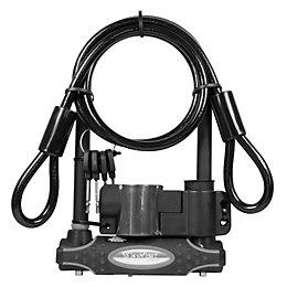 Master Lock Hardened Steel D-Lock & Cable x