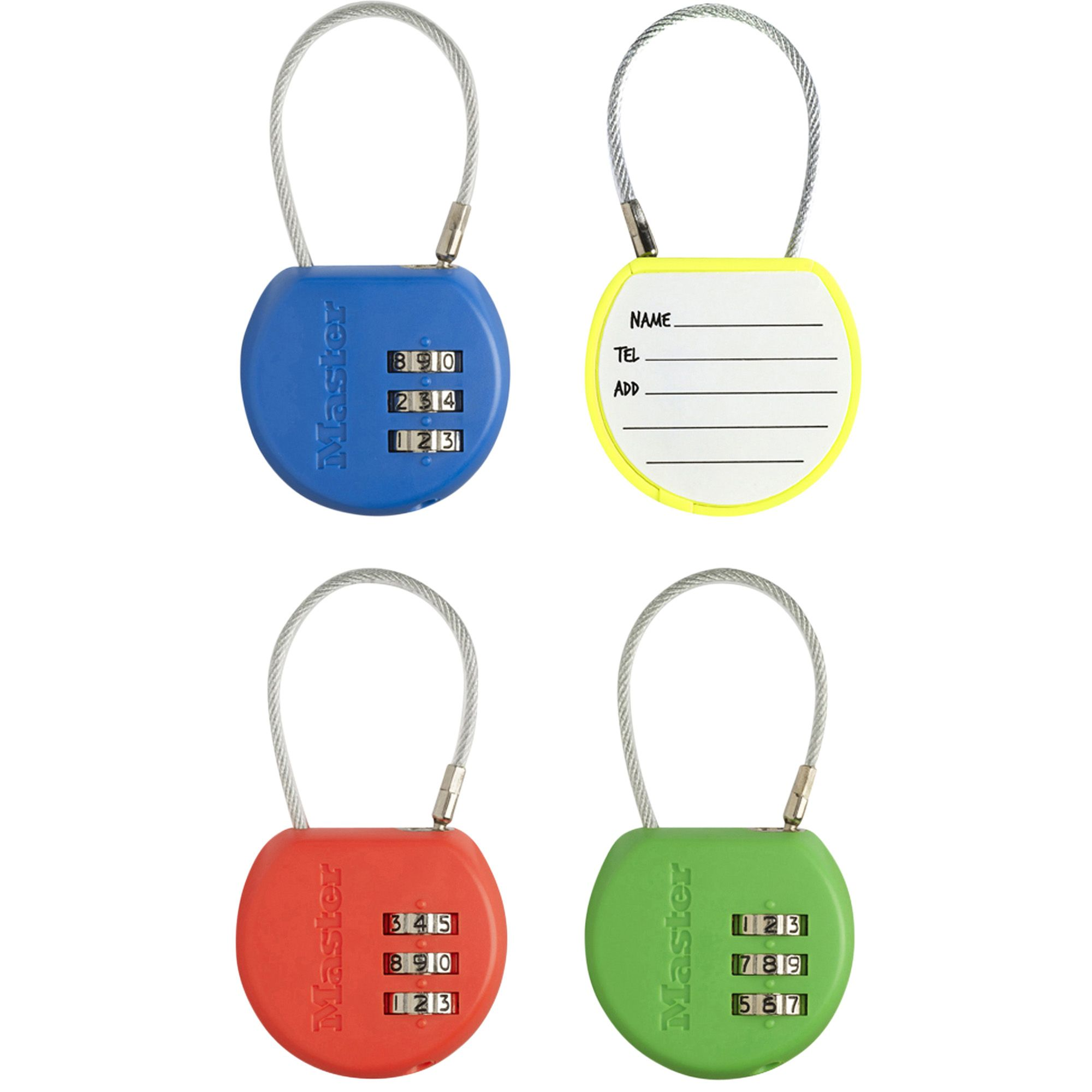 Master Lock Luggage Abs Resettable Combination Cable Padlock (w)42mm