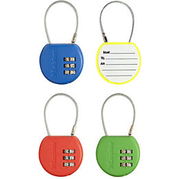 Master Lock Luggage ABS Resettable Combination Cable Padlock