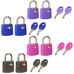 Master Lock Luggage ABS Keyed Padlock (W)20mm, Pack