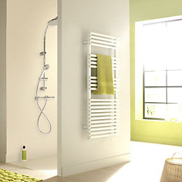 Acova Cala White Towel Warmer (H)721mm (W)500mm
