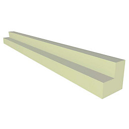 IT Kitchens Gloss Cream Slab Corner Post (H)715mm