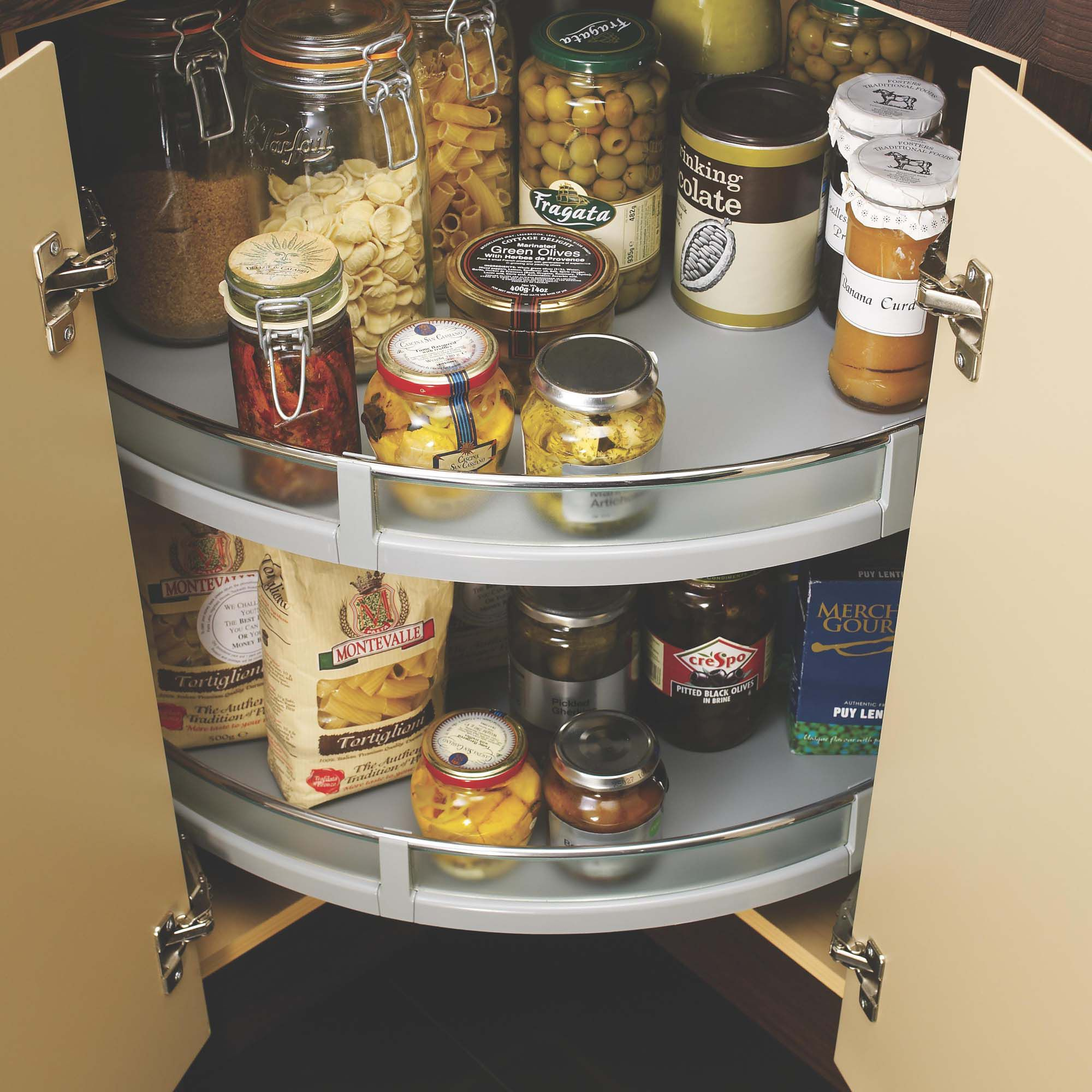 Kitchen Cabinet Carousel Corner Cooke Lewisgrey Glass Plastic Storage System Departments