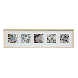 Heart Stones Grey Framed Print (W)1220mm (H)320mm