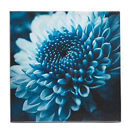 Flower Blue Canvas (W)550mm (H)550mm