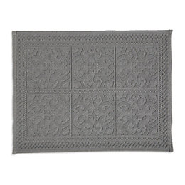 Marinette Saint-Tropez Astone Light Grey Tile Cotton Bath