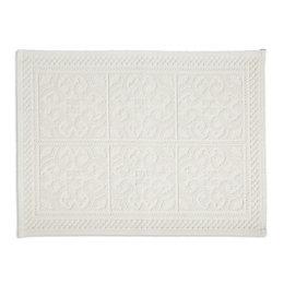 Marinette Saint-Tropez Astone Ivory Tile Cotton Bath Mat