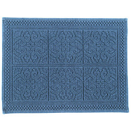 Marinette Saint-Tropez Astone Light Blue Tile Cotton Bath