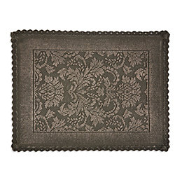 Marinette Saint-Tropez Platinum Gasoline Floral Cotton Bath Mat
