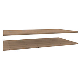 Darwin Modular Oak Effect Matt Shelves (D)566mm, Pack