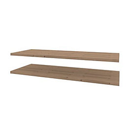 Darwin Modular Oak Effect Shelves (W)1000mm (D)374mm