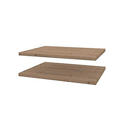 Darwin Modular Oak Effect Matt Shelves (D)374mm, Pack