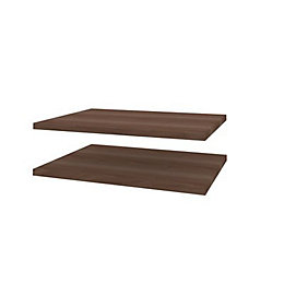 Darwin Modular Walnut Effect Shelves (W)500mm (D)374mm