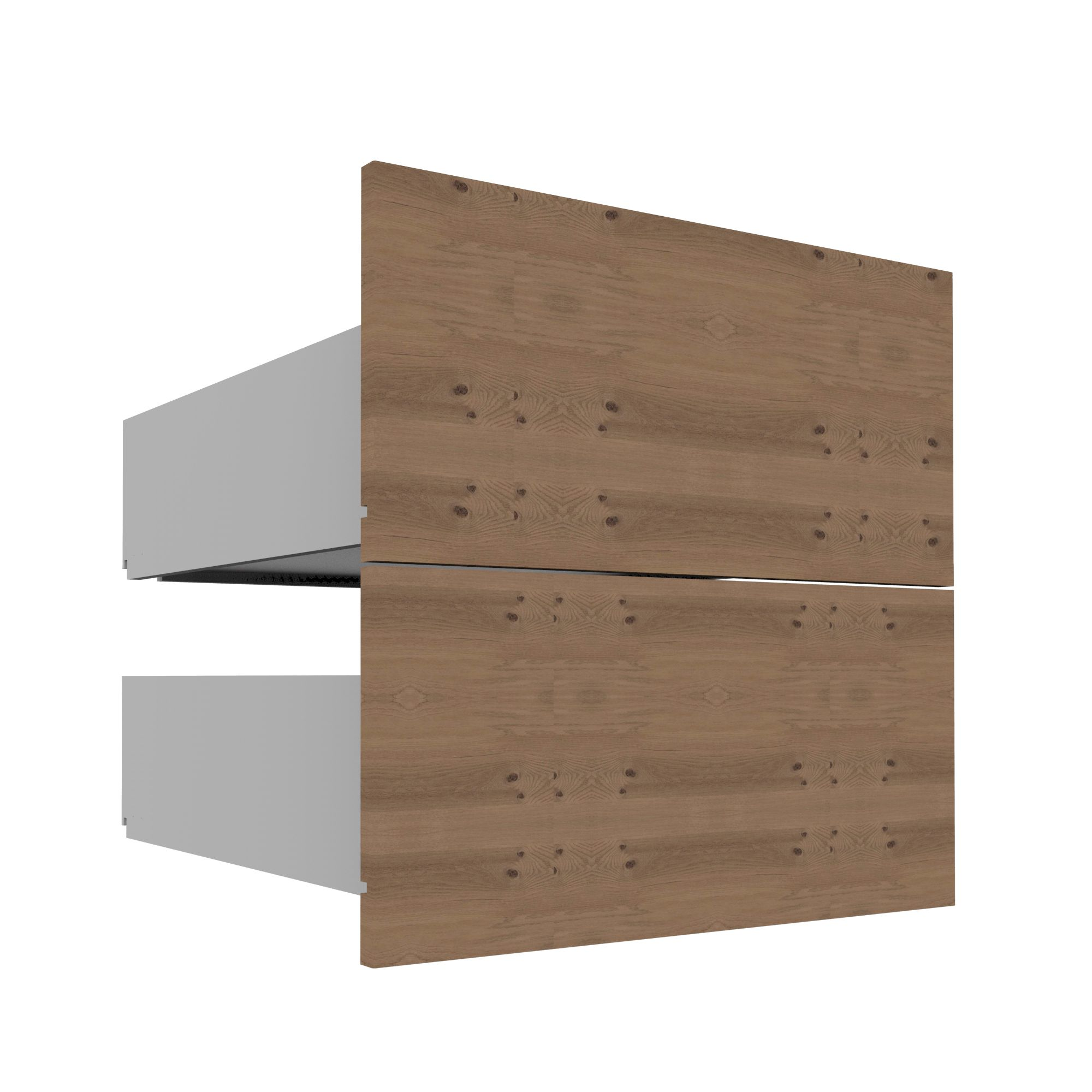 Darwin Modular Natural & Oak Effect External Drawers (h)237mm (w)500mm (d)566mm