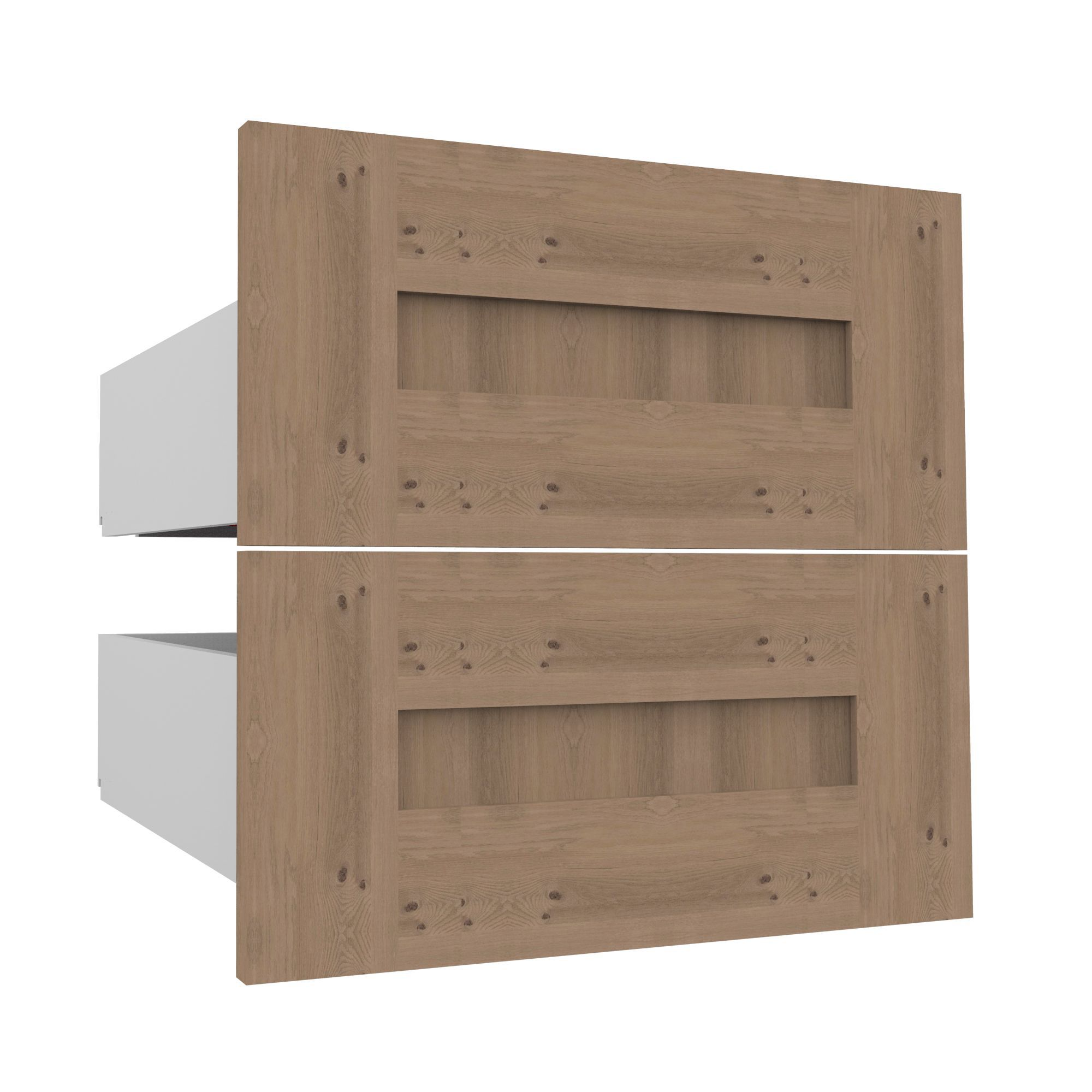 Darwin Modular Oak Effect External Drawers (h)237mm (w)500mm (d)566mm