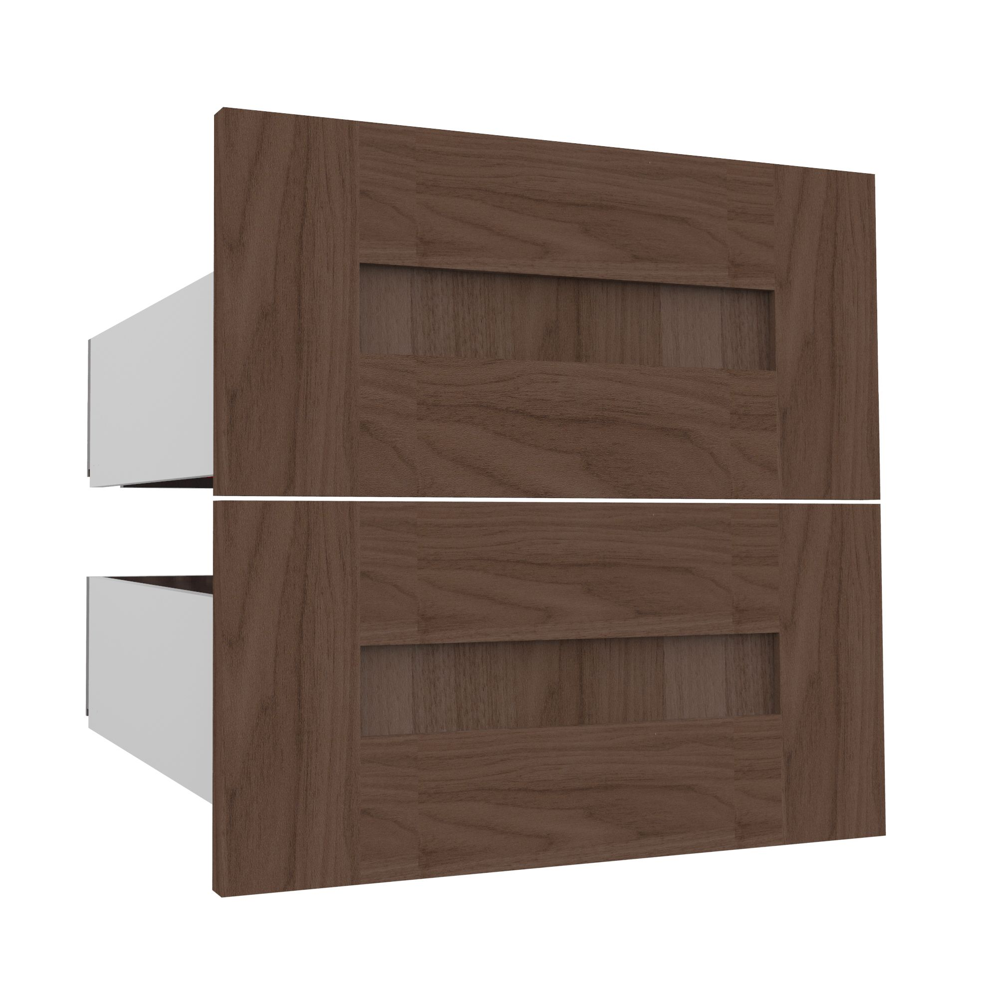 Darwin Modular Natural & Walnut Effect External Drawers (h)237mm (w)500mm (d)566mm