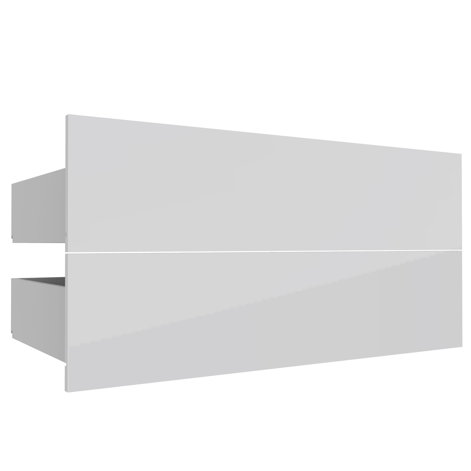 Darwin Modular White & Gloss External Drawers (h)237mm (w)1000mm (d)566mm